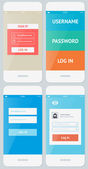 Mobile user interface template — Stock Vector