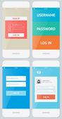 Mobile user interface template — Stock Vector