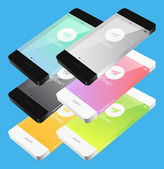Vector template phone in flat style — Vector de stock