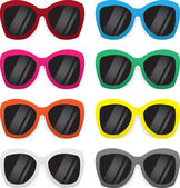 Colores de gafas de sol — Vector de stock
