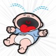 Vector de stock : Baby Crying