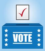Voter Box — Stock Vector