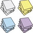 Notes Stacked Colors — Stock Vector