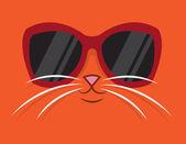 Cool Cat Sunglasses — Stock Vector