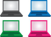 Laptop Colors — Stock Vector