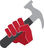 Hammer Hand — Stock Vector