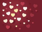 Hearts Random — Stock Vector