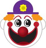 Clown Face — Stock Vector