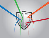 Shield Blocking — Stock Vector