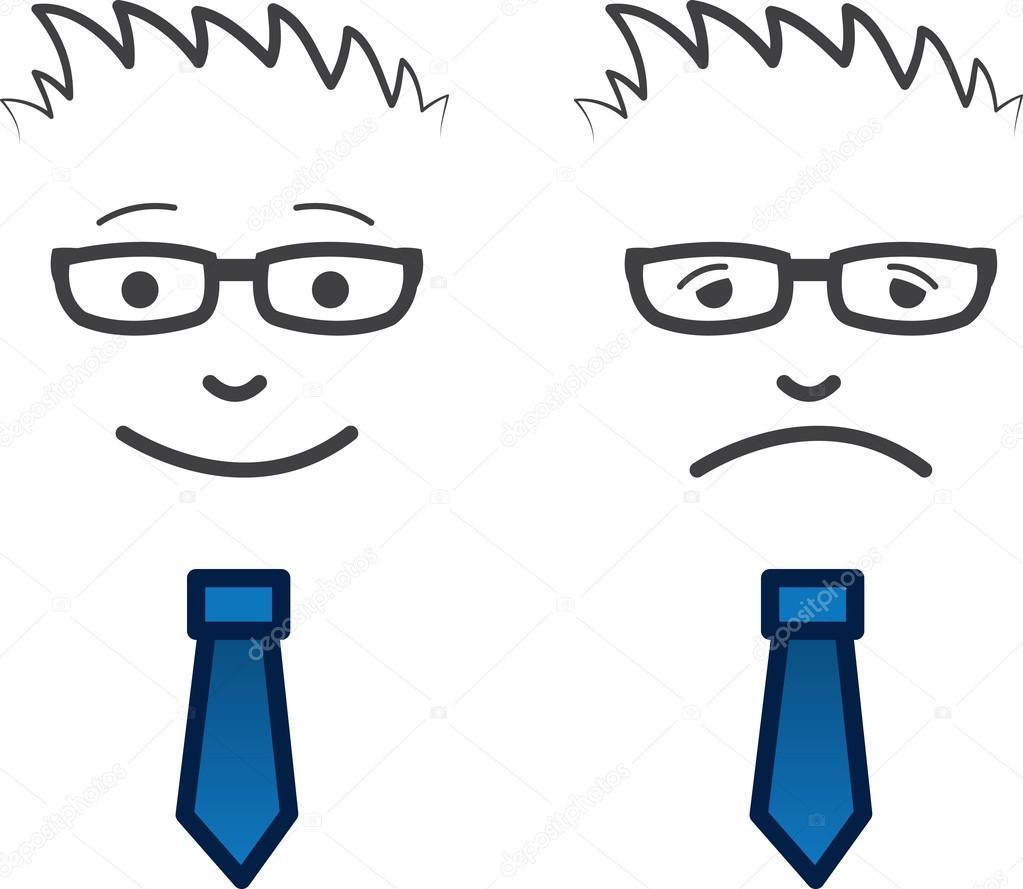 Business face happy sad stock vector 169 milo827 20154951