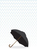 Umbrella In Rain — Stock Vector