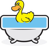 Rubber Duck Tub — Stock Vector