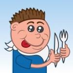 Boy Eating — Stock Vector #21763401