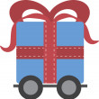 Gift on Wheels  — Stock Vector
