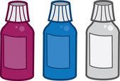 бутылочки с лекарствами — Cтоковый вектор