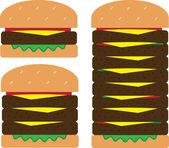 Hamburger Stacks — Stock Vector