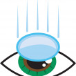 Stock Vector: Eye Contact Lens
