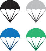 Parachutes — Stock Vector