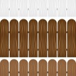 Royalty-Free Stock Vector Image: Fence Wooden Colors
