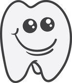 牙字符 — 图库矢量图片