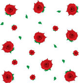 Roses Falling — Stock Vector