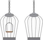 Vogelkooi met zonder swing — Stockvector