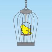 Birdcage Bird — Stock Vector