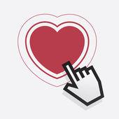Pointer Finger Heart — Stock Vector