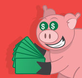 Pig Money — Stock Vector