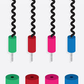 Electronic Plug Colors — Stockvektor