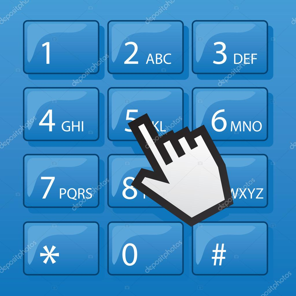 phone dial pad pointer | 图库矢量图片 08 john spangle