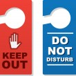 Door Signs Keep Out — Image vectorielle