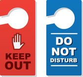 Door Signs Keep Out — Stock Vector