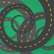 Road Spirals  — Stockvektor
