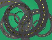 Road Spirals — Stock Vector