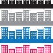 Apartment Buildings Colors  — Stock Vector