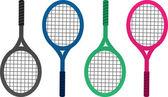 Tennis Racket Colors — Stock Vector