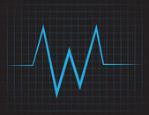 EKG Grid — Stock Vector