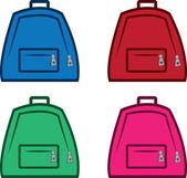 Bookbag Colors — Stock Vector