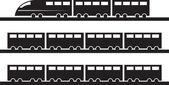 Train Silhouette — Stock Vector