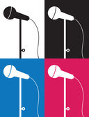 Microphone Silhouette Colors — Stock Vector
