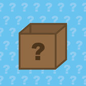 Box Question — Stock Vector
