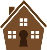 House Keyhole — Stock Vector
