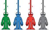 Figura líquido derramando cores — Vetor de Stock