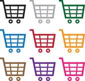 Shopping Cart Colors — Stock Vector