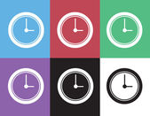 Clock Silhouette Colors — Vettoriale Stock