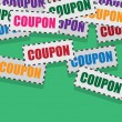 Coupons Falling — Stock Vector