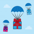 Parachuting Gifts — Image vectorielle