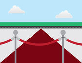 Vip kırmızı halı — Stok Vektör
