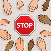 Stop Hands — Stock Vector